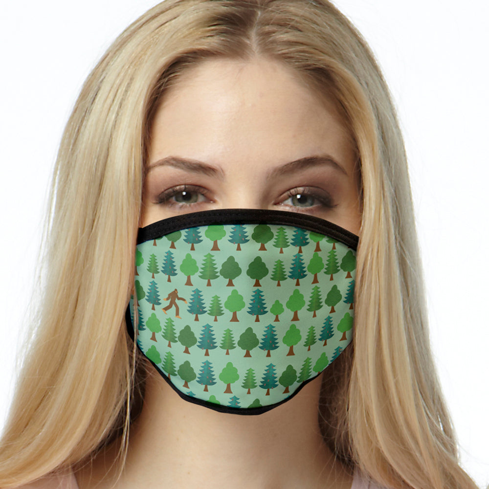 Sasquatch FACE MASK Big Foot Forest Pattern Cover Your Face Masks