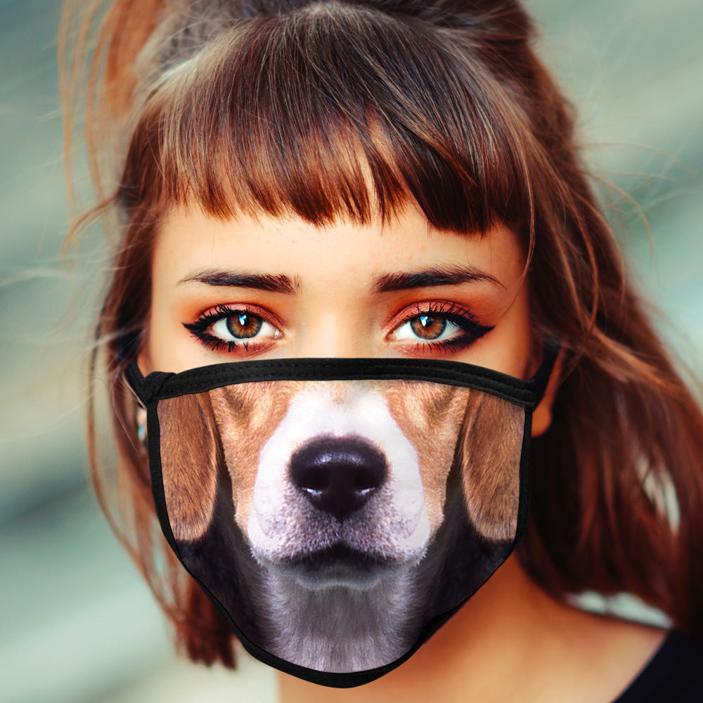 Beagle FACE MASK Cover Your Face Dog Breed Masks