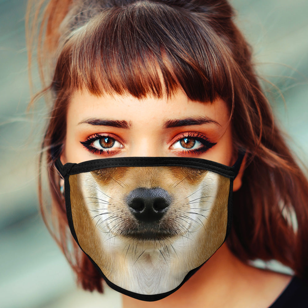Chihuahua FACE MASK Cover Your Face Dog Breed Masks