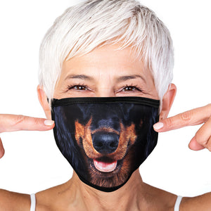 Dachshund FACE MASK Cover Your Face Dog Breed Masks