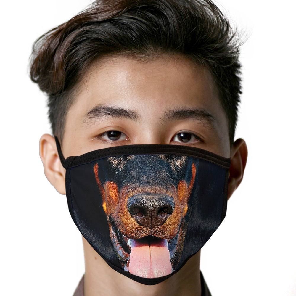 Doberman Pinscher FACE MASK Cover Your Face Dog Breed Masks