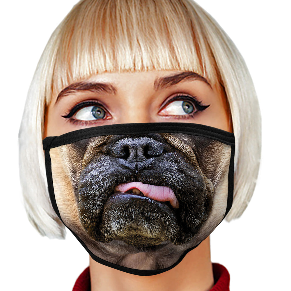 French Bulldog FACE MASK Cover Your Face Dog Breed Masks
