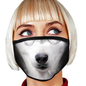 Siberian Husky FACE MASK Cover Your Face Dog Breed Masks