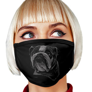Bulldog FACE MASK Cover Your Face Dog Breed Masks