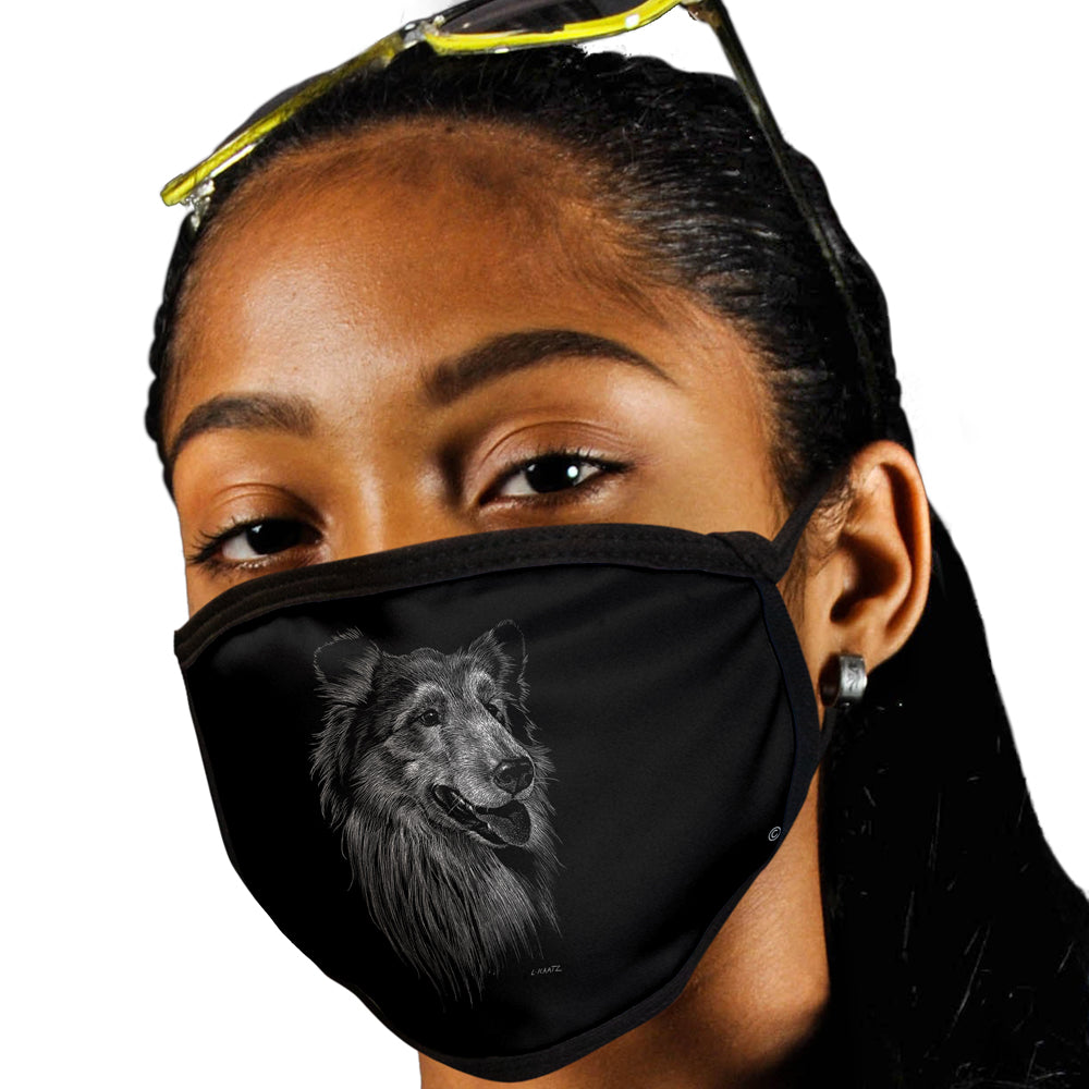 Collie FACE MASK Cover Your Face Dog Breed Masks