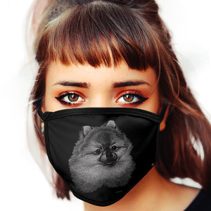 Pomeranian FACE MASK Cover Your Face Dog Breed Masks