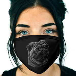 Pug FACE MASK Cover Your Face Dog Breed Masks