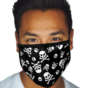 Skulls And Crossbones FACE MASK Cover Your Face Halloween Masks