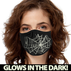 Spiderweb GLOW FACE MASK Face Covering