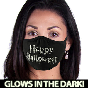 Happy Halloween GLOW FACE MASK Face Covering