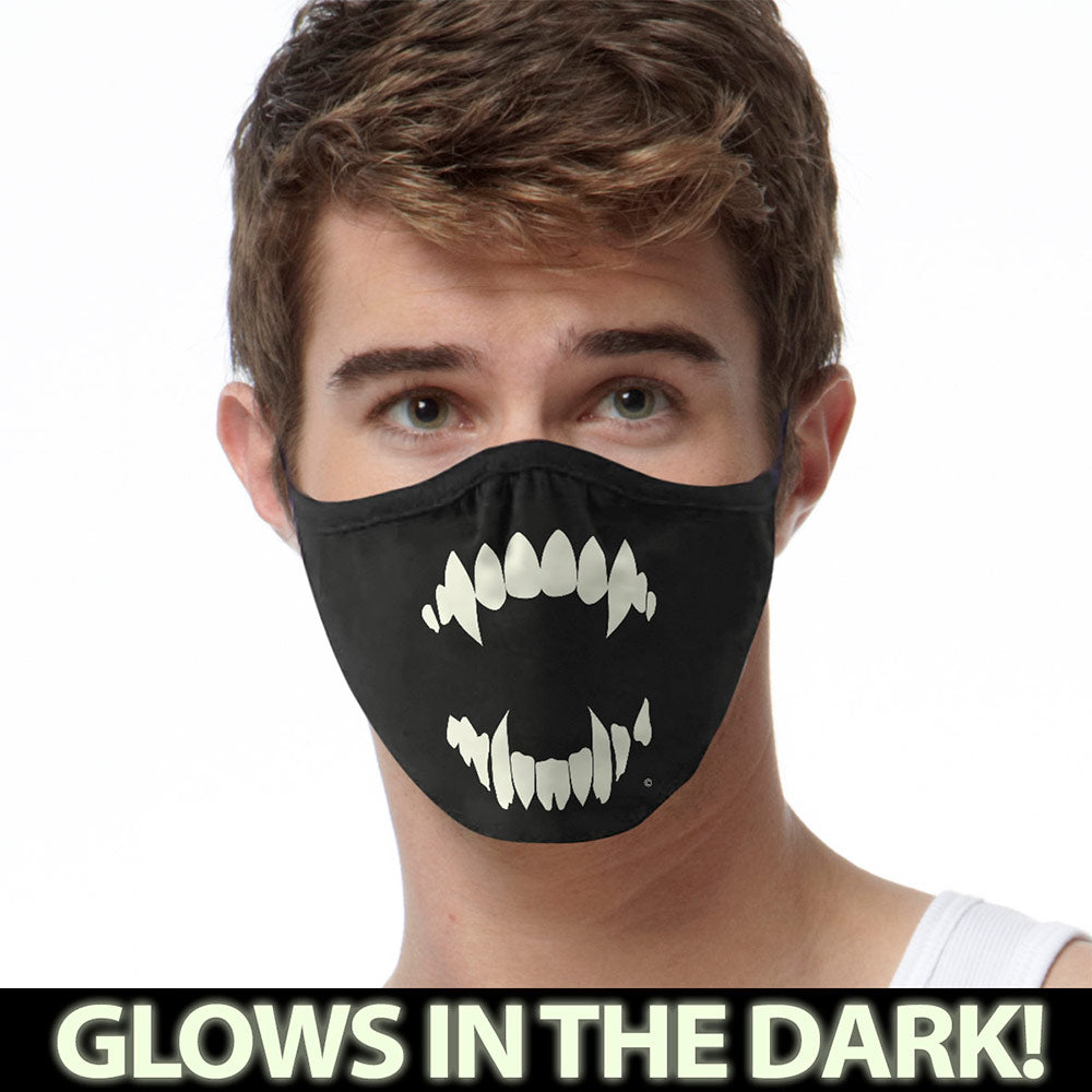 Vampire GLOW FACE MASK Face Covering