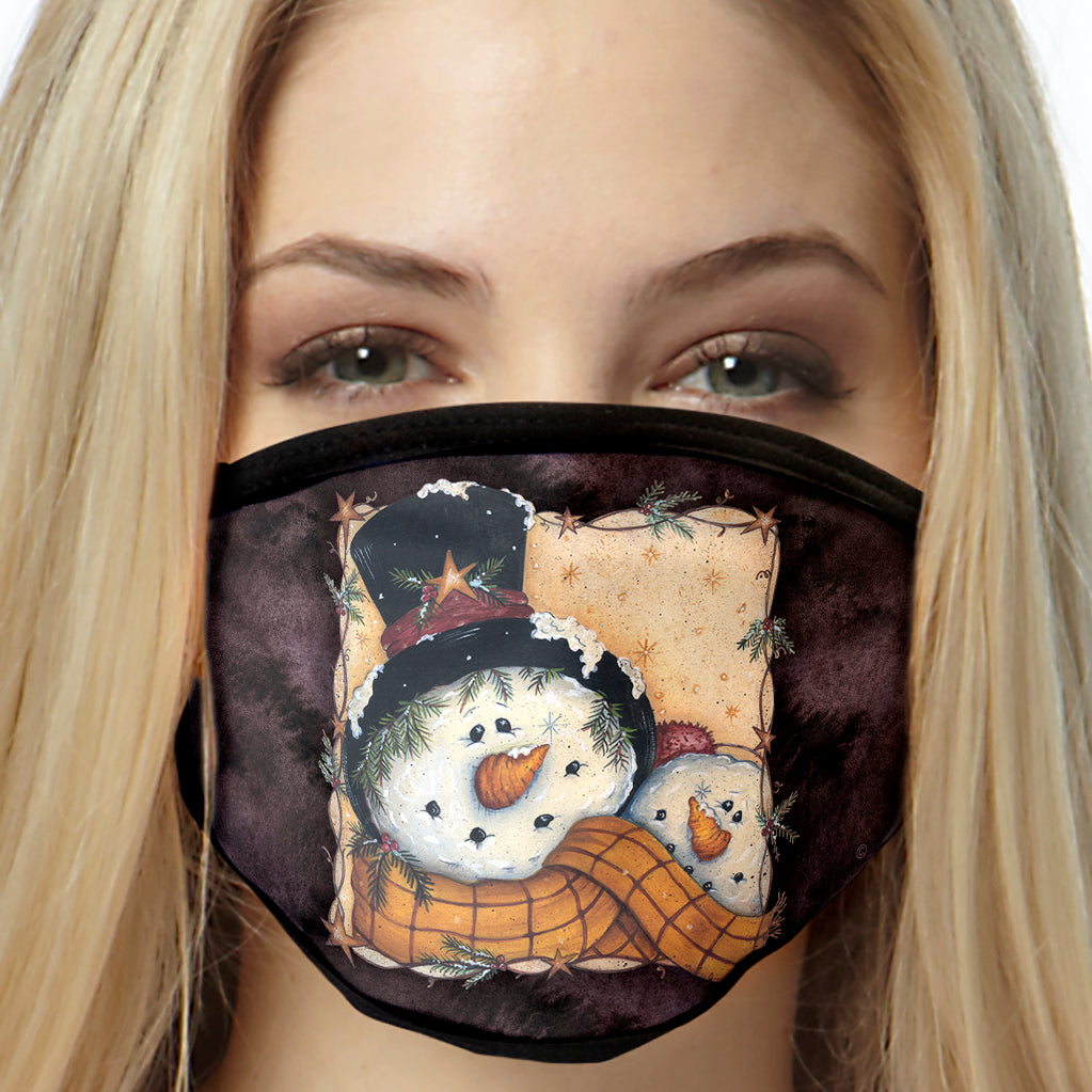 Snowman Face Mask Christmas Face Covering