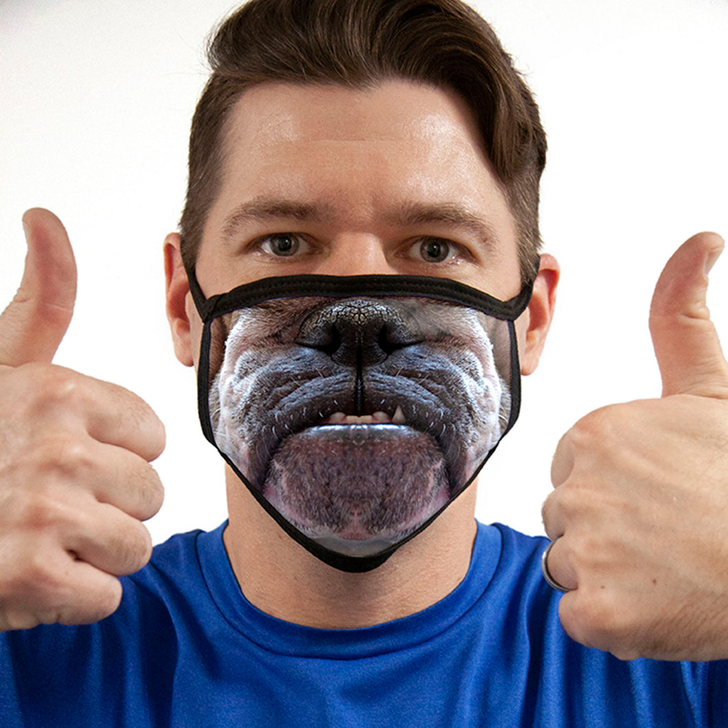 Bulldog FACE MASK Cover Your Face Masks