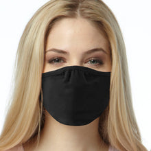 Load image into Gallery viewer, 3 Pack FACE MASKS, 2-ply Black Cotton Covering, SPECIAL OFFER