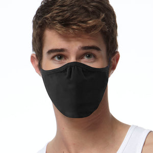 3 Pack FACE MASKS, 2-ply Black Cotton Covering, SPECIAL OFFER
