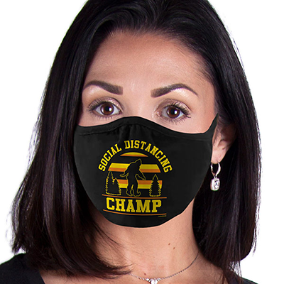 Big Foot FACE MASK Social Distancing Champ Cover Your Face Masks
