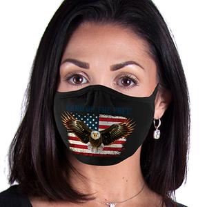 Eagle & Flag FACE MASK American Pride Land of the Free Face Covering