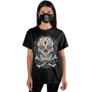 Floral Skull T-SHIRT SET - Cover Your Face [NEED SKU]