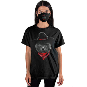 Cowboy Cat T-SHIRT SET - Cover Your Face