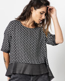DOTTED PRINTED BLOUSE 1046 - بلوزة