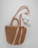 STRAW RATTAN BUCKET SHOULDER BAG 1969 - حقيبة
