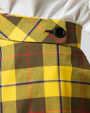CHECKS COTTON SKIRT 1667 - تنورة