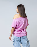 FLANNEL RIPPED NECK T-SHIRT 1712 - تي شيرت