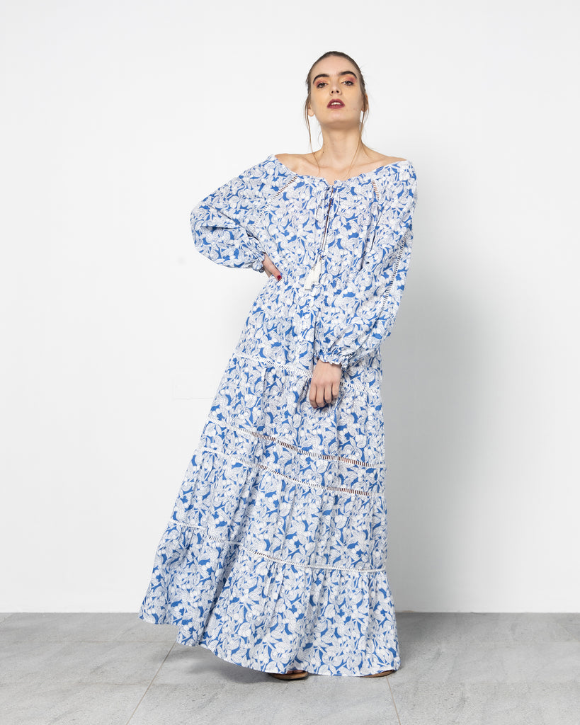 FLORAL GATHERED BEACHWEAR 1757 - ملابس للبحر