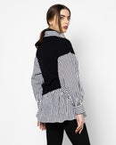 KNITTED VEST ATTACHED SHIRT 1766 - قميص