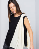 SLEEVELESS COTTON JERSEY BLOUSE 1890 - بلوزة