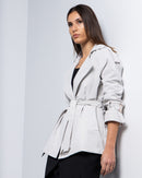 V-COLLAR BELTED WAIST COTTON COAT 1895 - كوت