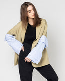 V-NECK STRIPED BLAZER 1607 - بليزر