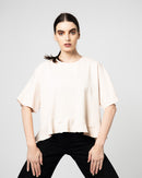 PLAIN ROUND NECK LAYER BLOUSE 1051 - بلوزة
