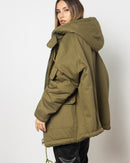 CURLY FLEECE FRONT POCKET PARKA JACKETS 2010 - جاكيت