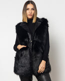 V-COLLAR FAUX FUR VEST 2015 - فست