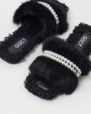 MINK FUR AND CURLY FUR FRONT PEARL 2028 - صندل