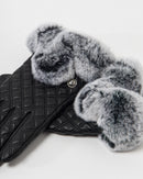 LEATHER FAUX FUR GLOVE 2054 - قفاز
