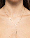 LONG BAR GOLDEN CHAIN NECKLACE 1156 - قلادة