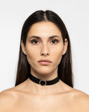 RING LEATHER CHOKER 1182 - قلادة