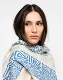 EDGE STITCH TASSEL SCARF 1710 - سكارف