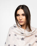 STAR PRINTED SCARF 1145 - سكارف