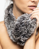 CHINCHILLA NECK WRAP SCARF 1301 - سكارف