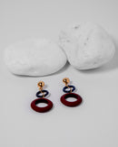 ACRYLIC ROUND EARRINGS 2046 - حلق