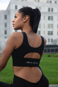 Monie Christo Logo Sports Bra