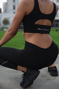 Monie Christo Logo Sports Bra-Monie Christo Collection