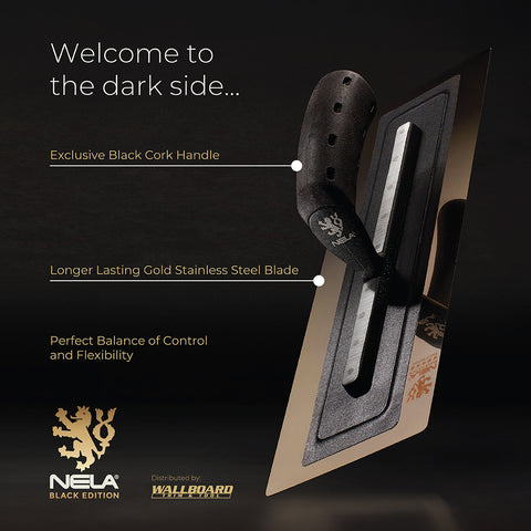 Nela Black Edition Stainless Steel Finishing Trowel