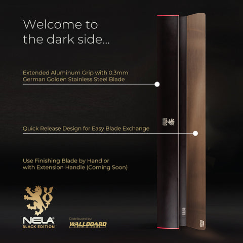 Black Edition NELA Edge Smoothing Finish Blade with Interchangeable Blade