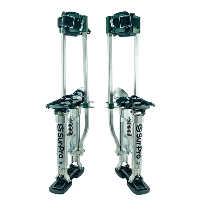 "Sur-Pro 15"" to 23"" Quadlock Double Sided Drywall Stilts - Aluminum - Toolriver 