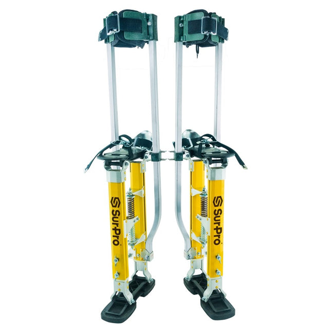"Sur-Pro 18"" to 30"" Quadlock Double Sided Drywall Stilts - Magnesium - Toolriver 