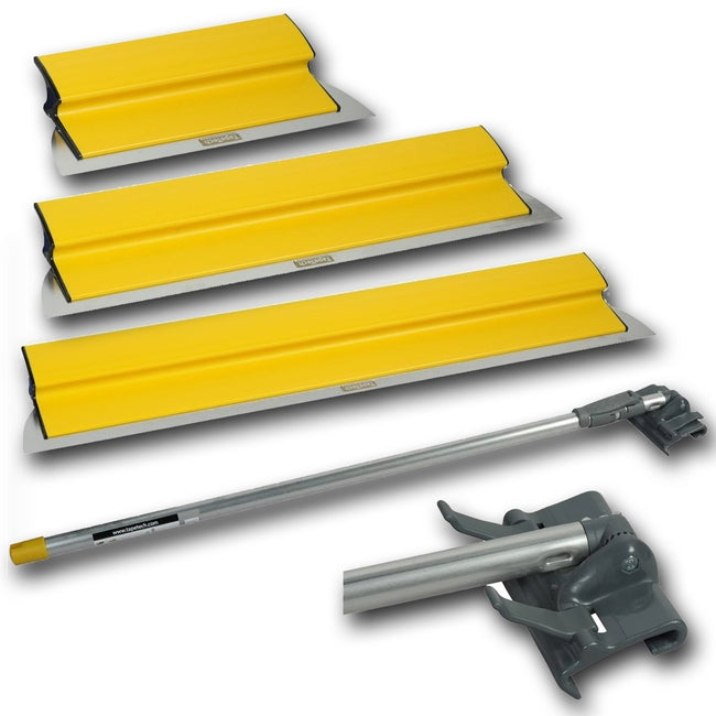 "Tapetech Premium Drywall Skimming Smoothing Blade Set - 10"", 24"", 32"" w/ Extendable Handle - #BFCM - Toolriver 